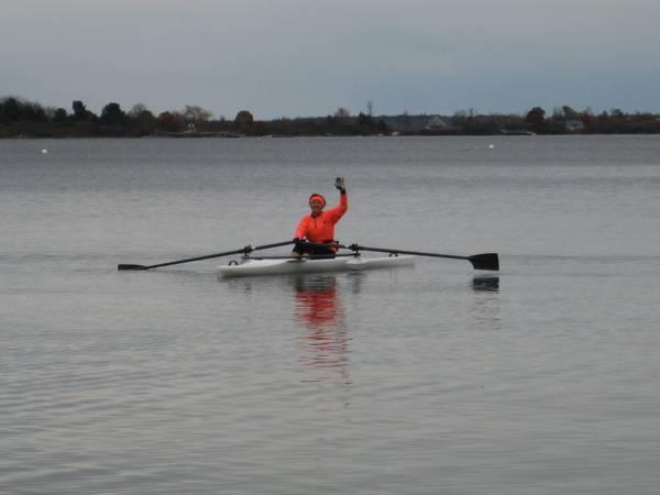 Rowing boats at Mission Bay California
